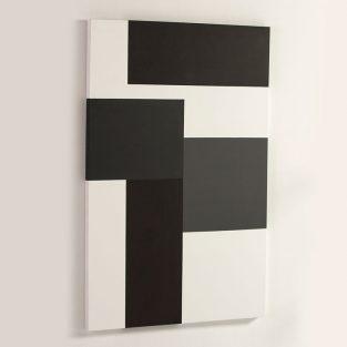 Lienzo Composición Blanco/Negro/Gris 100 x 150 cm.