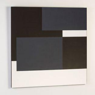 Lienzo Composición Blanco/Negro 175 x 120 cm.