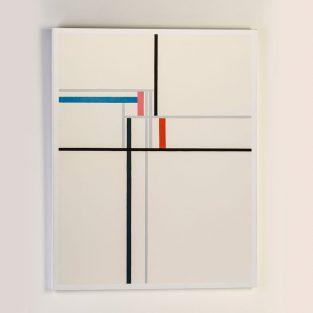 Lienzo Composición Multicolor 90 x 120 cm.