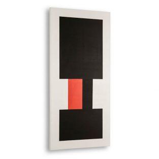 Lienzo Multicolor Blanco, Negro, Rojo