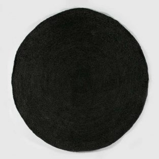 Alfombra Redonda Yute Negro 200 X 200 cm.