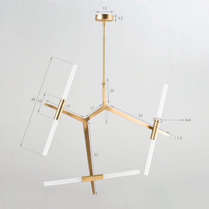 Lámpara de techo Madrid detalle
