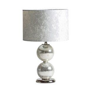 Lámpara Sobremesa Bolas Plata