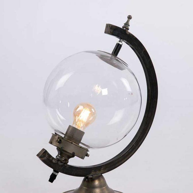 Lámpara sobremesa Globo Terráqueo detalle esfera
