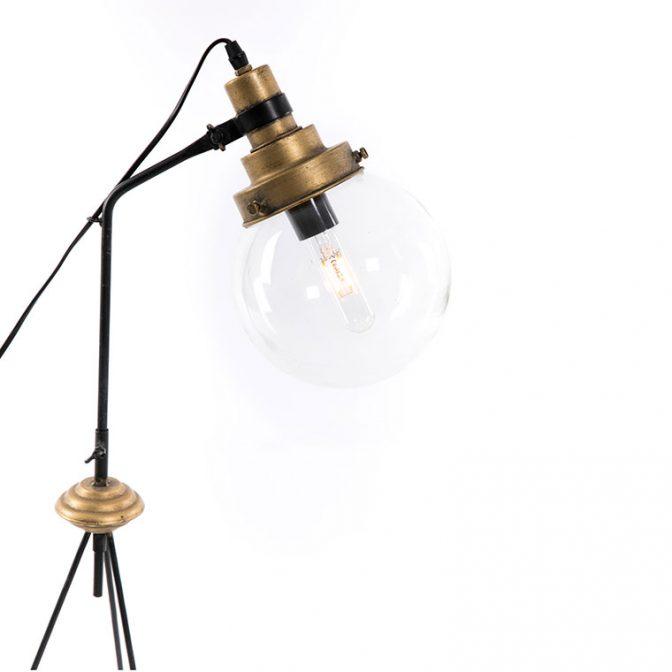 Lámpara sobremesa Trípode detalle foco