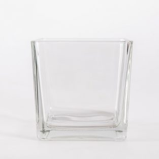 Macetero Cuadrado Minímalista Cristal 12 cm