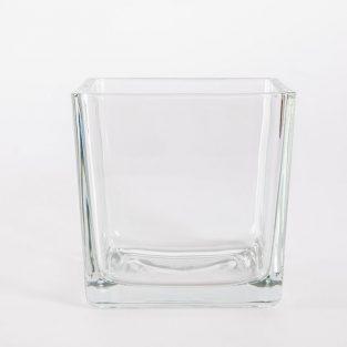 Macetero Cuadrado Minímalista Cristal 14 cm