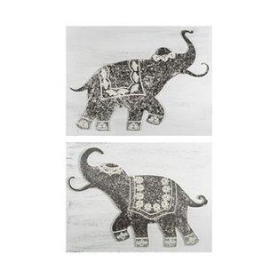 Pareja Cuadros Elefantes Calcuta