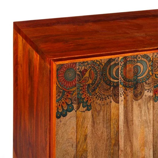 Aparador decorado con Mandalas detalle dibujo