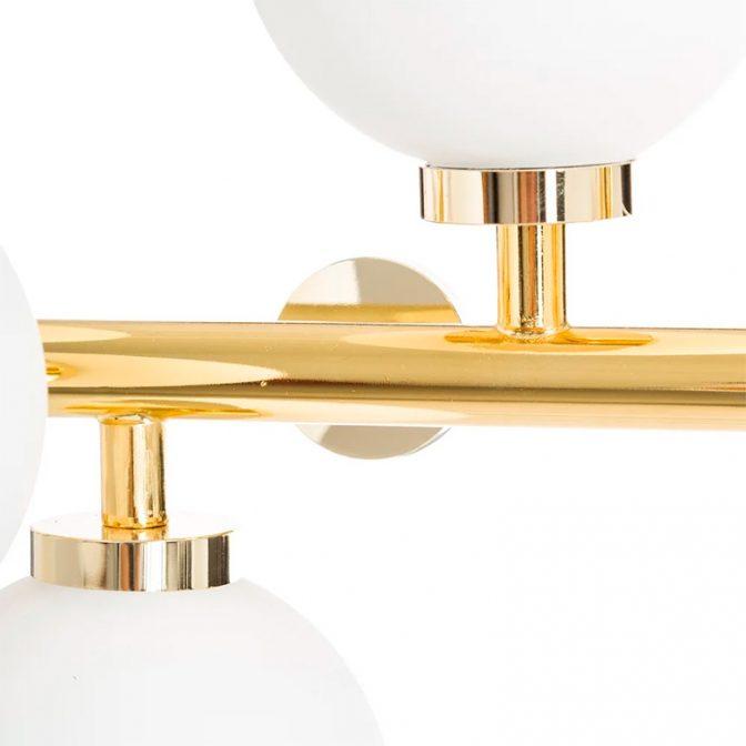 Lámpara techo vintage oro-blanco detalle barra