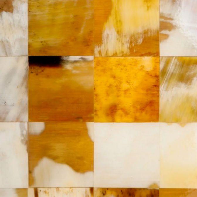 Mesa centro mosaico de piezas de asta natural detalle natural